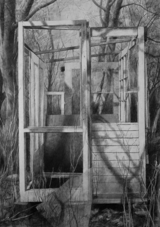 Altana, ołówek, 100 x 70 cm, 2007