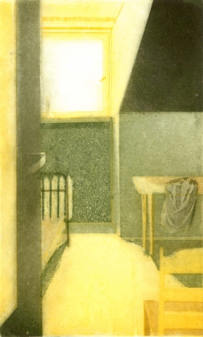 Pokój II, 2009, akwatinta, akwaforta, 30.3 x 18.7 cm