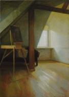 Poddasze, 2007,olej na płótnie, 70 x 50 cm